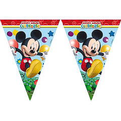 Guirnalda banderines triangulares Mickey Mouse