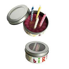 Caja 4 velas cumpleaños