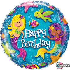 Globo sirenitas Happy Birthday