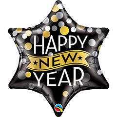 Globo Estrella Happy New Year