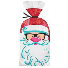Bolsas modelo Papá Noel para golosinas y galletas, Pack 20 u.