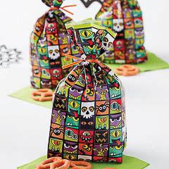 Pack 20 bolsas modelo Halloween para golosinas y galletas