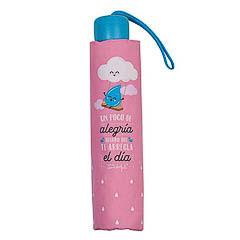 Paraguas Mr. Wonderful plegable mediano- Un poco de alegría seguro que te arregla el día