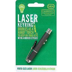 Llavero puntero láser, linterna Led y touch pen negro