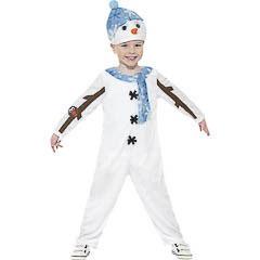 Disfaz muñeco de nieve infantil