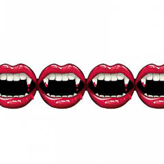 Guirnalda boca vampiro Halloween