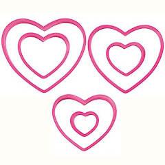 Set 6 cortadores corazones Wilton