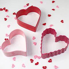 Set 3 cortadores de galletas corazones Wilton