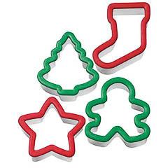 Set 4 cortadores Wilton figuras Navidad