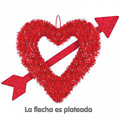 Colgante corazones rojo decorativo