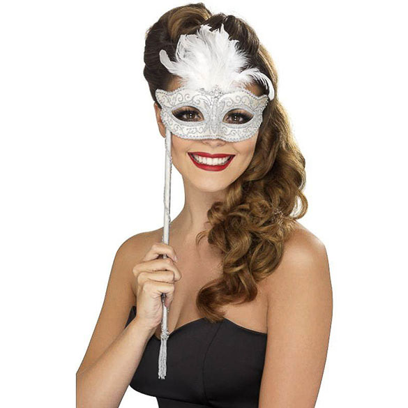 Máscara veneciana con palo