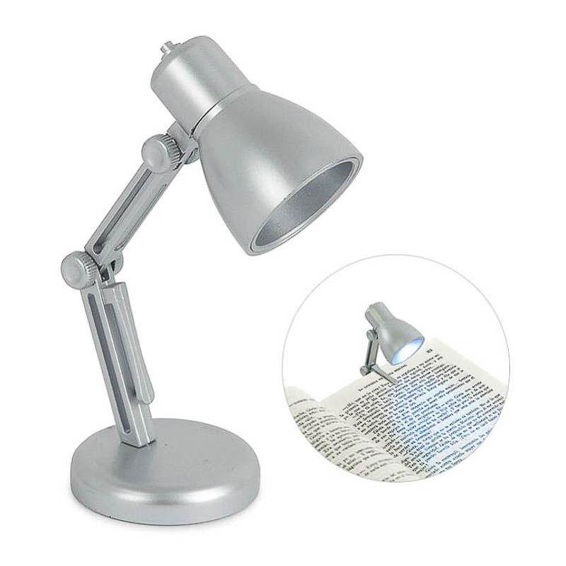 Luz de lectura lámpara plata
