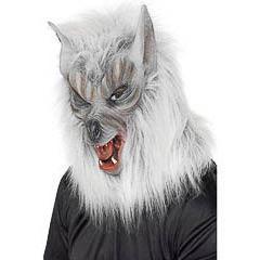 Máscara lobo con pelo