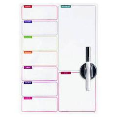 Pizarra magnética semanal y lista de la compra con rotulador