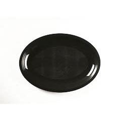 Pack 6 Platos ovalados 32 x 22 cm negro