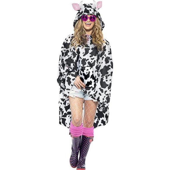 Capa Chubasquero poncho modelo Vaca