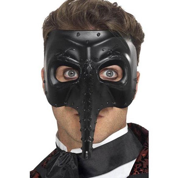 Antifaz capitán veneciano negro