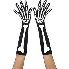 Guantes esqueleto adulto talla única
