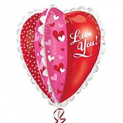 Globo Corazón I love you 3D