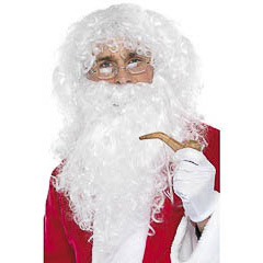 Set Papá Noel peluca y barba