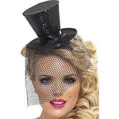 Diadema sombrero de copa negro