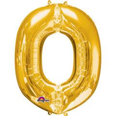 Globo letra O con forma dorado