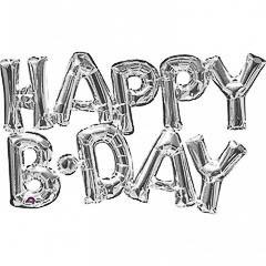 Globos con forma de letras Happy B·Day