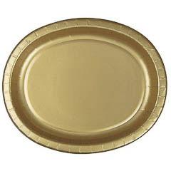Pack 8 bandejas doradas 30,40 x 25, 40 cm
