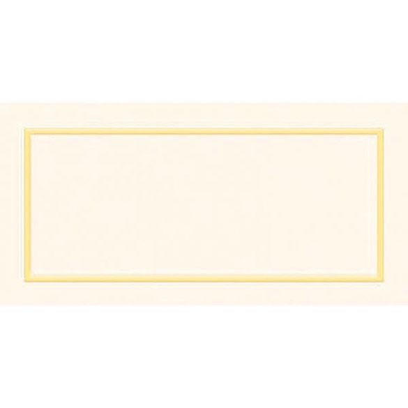Tarjeta marca puestos borde oro, Pack 50 u