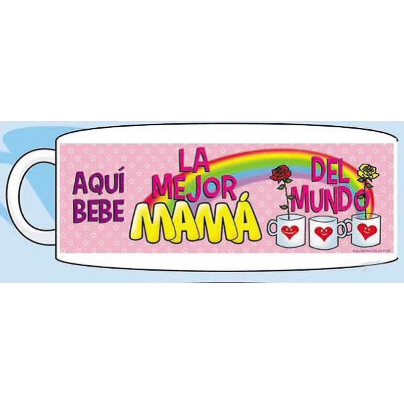 Taza cerámica aquí bebe la mejor mamá del mundo