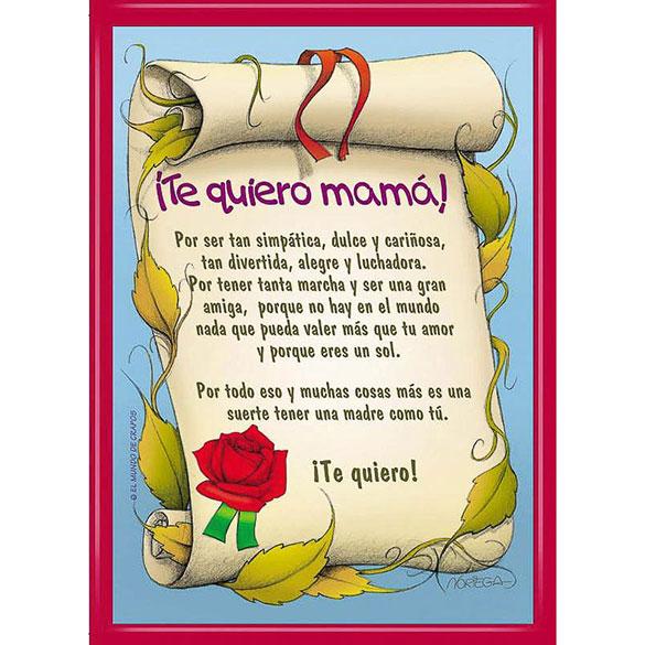Diploma te quiero mamá