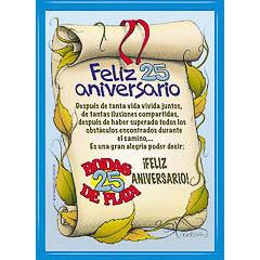 Diploma feliz 25 aniversario
