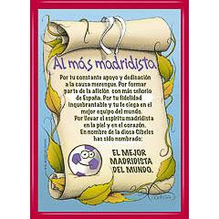 Marco diploma al más madridista