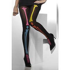 Medias esqueleto panty huesos colores