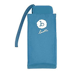 Paraguas Bisetti plegable mini de señora, color azul oscuro