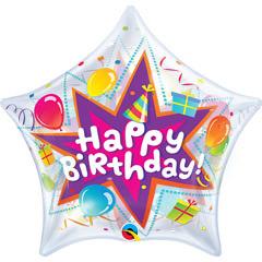 Globo estrella Happy Birthday