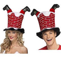 Sombrero Chimenea con píes de Papá Noel
