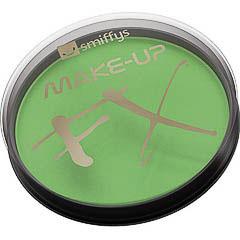 Maquillaje cara y cuerpo verde
