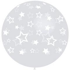 Globo transparente con estrellas 91,00 cm