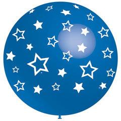 Globo azul con estrellas blancas 91,00 cm