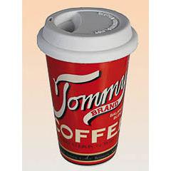 Vaso cerámica coffe con tapa de silicona Tommy's
