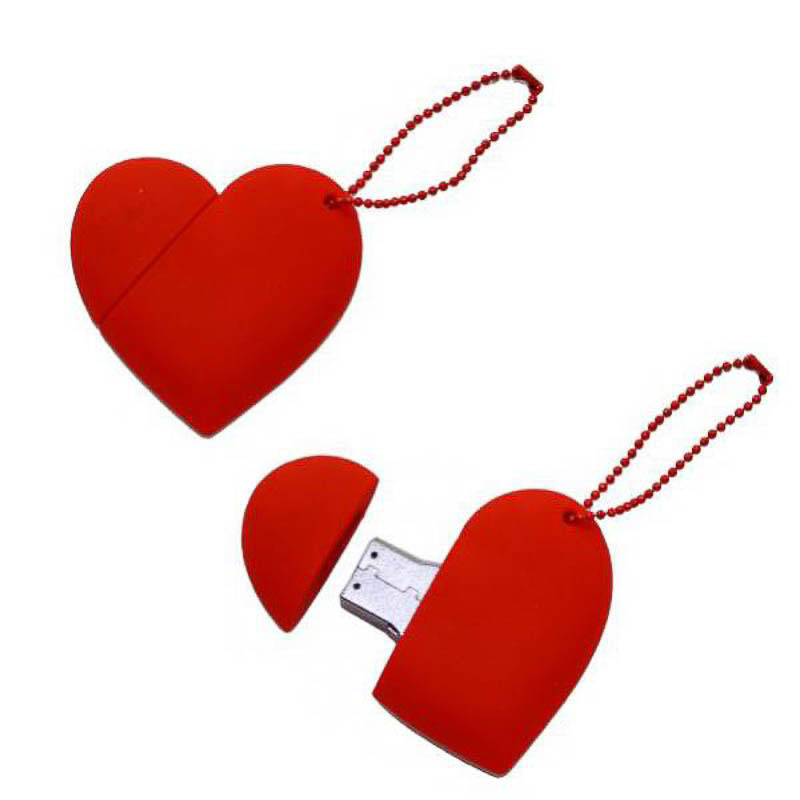 Memoria USB corazón rojo 8GR