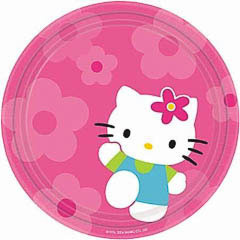 Platos Hello Kitty 23 cm, Pack 12 u.