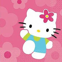 Servilletas Hello Kitty 33 x 33 cm, Pack 24 u.
