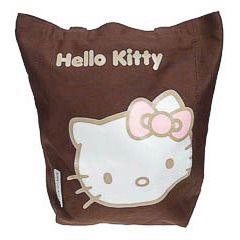 Bolsa de lona Hello Kitty de color marrón
