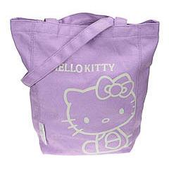 Bolsa de lona Hello Kitty de color morado