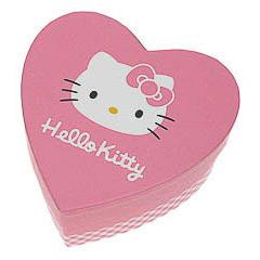 Caja cartón forma corazón Hello Kitty