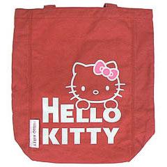Bolsa de lona Hello Kitty de color rojo