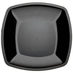 Pack 6 Platos de 23 x 23 cm negro
