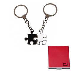 Set 2 llaveros modelo puzzle